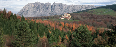 Autumn in Urkiola. Native forests, reforested areas, pasturelands and crag communities are part of the Urkiola Natural Park's vegetation